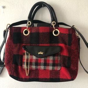 Juicy by Juicy Couture plaid Christmas purse